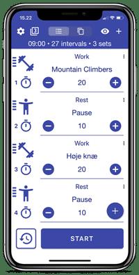 Hold styr på træningen med en Tabata timer app til mobiltelefonen